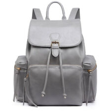 Ladies Girls PU Leather/oilcloth Skull Backpack School Travel Shoulder Bag Lh1709 Grey