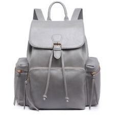Vintage PU Leather Ladies Girls Backpack Shoulder School Bag Rucksack Waterproof