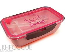 Hello Kitty Pink Microwave Safe Divided Bento Lunch Box Fork K155