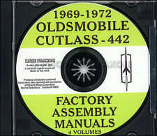 442 Supreme and Cutlass CD Assembly Manual 1969 1970 1971 1972 Oldsmobile Olds
