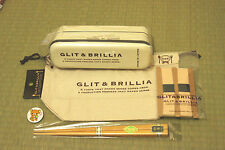 お弁当 BENTO BOX - Kit GLIT & BRILLIA SLIM Beige + sac + baguettes IMPORT JAPON