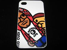 Kid Cudi Cover Case for iPhone 4 4s  New Cartoon Kid Cudi and Monkey White Case