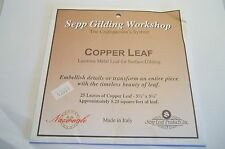 Copper Leaf Lampworking 25 Sheets Gilding Beadmaking Glass Fusing Kiln 5.25 Feet