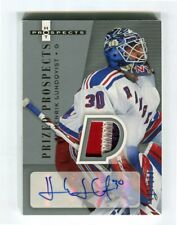 2005-06 Hot Prospects #254 Henrik Lundqvist Rookie Auto Patch 4 Colors  173/199