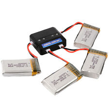 4X 3.7V 800mAh Battery Rechargeable + Charger for Syma X5C X5A X5SC X5SW BC535