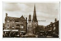 Staffordshire Uttoxeter Market Cross Real Photo Vintage Postcard 12.3
