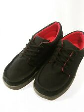 Womens Canvas Lace Up Sanuk Loafers Black And Red Size 4