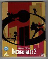 INCREDIBLES 2 Brand New 3D & 2D Blu-Ray STEELBOOK Disney Pixar Region-All Import