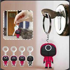 Squid Game Keychain Pendant Acrylic Mini Doll Car Backpack Key Chain Keyring Us