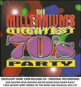 Very Best Greatest 70's Hits CD Glitter Mud Racey T.Rex Quatro Sailor Dawn 10cc