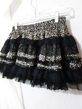 Black Fashion Leopard Print Pettiskirt A6