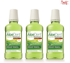 AloeDent Aloe Vera Cool Minty Freshness Mouthwash With Fluoride -250ml(Pack of3)