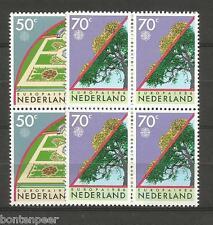 NVPH 1353-54 POSTFRIS IN BLOKKEN VAN 4 EUROPA CEPT1986 CAT.WRD 4,80 EURO