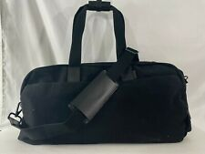 Away Everywhere Black Canvas Leather Handles Overnight/Weekend/Gym Bag Pre-owned