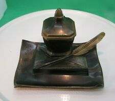 Estate Find - Cast Bronze WRITING IMPLEMENTS Inkstand