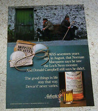 1981 ad page -Dewar's Scotch Whisky- Loch Ness Monster MacQueen vintage Print Ad