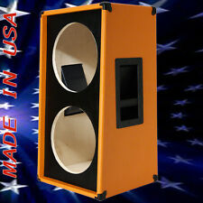 2X12 Vertical Slanted guitar Speaker Empty Cabinet Orange Tolex G2X12VSL BF