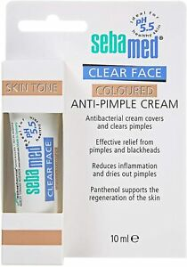SEBAMED CLEAR FACE ANTI-PIMPLE COLOURED CREAM 10ml. Acne pimples blackheads NEW