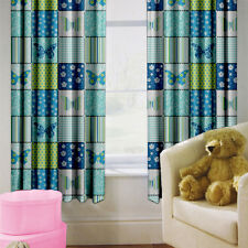 "Butterfly Children's Kids Curtains 66"" by 72"" + Tiebacks Nursery Bedding Blinds"