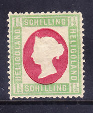 More details for heligoland qv 1873 sg9 11/2sch green & rose - mounted mint - signed. cat £95