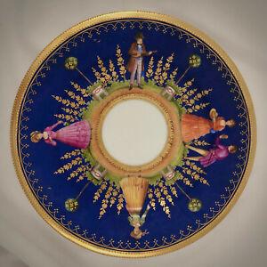 Antique Kestner Dresden Plate, Scenic