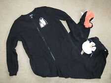 SUPER Nick & Nora penguin footed pjs pajamas - adult M