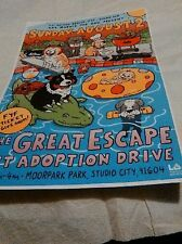 "THE GREAT ESCAPE (PET ADOPTION DRIVE) POSTER IN LOS ANGELES 11"" X 17"""