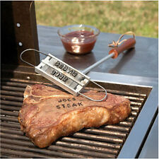 Steak Viande Branding Iron Signature Marquage Variables BBQ