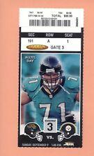 Pittsburgh Steelers  Jacksonville Jaguars 2001 ticket Casey Hampton 1ST NFL GAME
