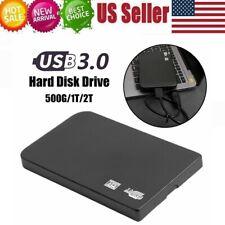 """2.5"""" External 2TB/1TB/500GB Ultra Slim Hard Disk Drive USB 3.0 HDD Data Storage"""