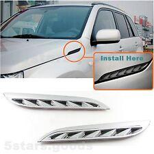 Accessories Chrome Side Air Intake Vent Trims For 2006-2013 Suzuki Grand Vitara
