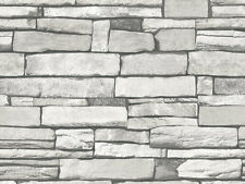 Gray Stone Brick Look Contact Paper Self Adhesive Wallpaper Peel and Stick