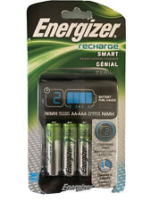 Energizer Smart Rechargeable Charger for AA/AAA Batteries, with 4 AA Batteries