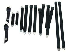 PG Classic 3850-70BUK-100 Mopar 1970-71 A-Body Bucket Seat Belt Set Black