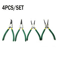 4PC 7 Inch Circlip Pliers Internal External Bent Nose Straight Tip Snap Ring