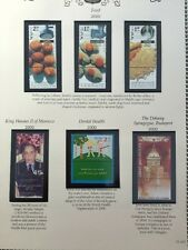 Israel Food King Hussein II Of Morocco Dental Health Synagogue 2000 Stamps