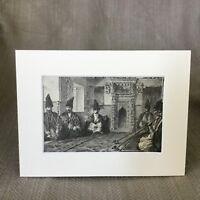 1890 Originale Vittoriano Stampa Armeno Interno Fumare Camera Armenia Antico