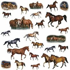 WILD HORSES 24 Wall Stickers Room Decor WESTERN Ranch Decals Farm Decorations