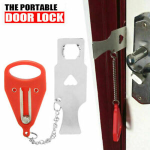 Portable Door Lock Hardware Safety Security Tool for Home Privacy Travel Hotel