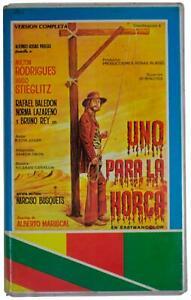 UNO PARA LA HORCA Clamshell VHS VIDEO 70s Mexican Spaghetti Western Movie RARE !
