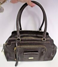 TOD's Brown Pebbled Kate Piccola Giorno Leather Satchel w/ Gold Hardware