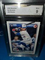 GMA 9 MINT ~BO BICHETTE RC 2020 BOWMAN ROOKIE #52 TORONTO BLUE JAYS🚀🔥⚾️📈🚀