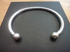 New Solid Sterling Silver.925 Torque Bangle 24.5 grams 7.6mm balls