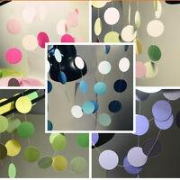 Hanging Paper Garlands Wedding Party Birthday Baby Decoration Round Shape Chic