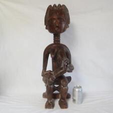 """Ashanti Asante Carved Wood Fertility Figure African Sculpture 26.5"""" Tall Ghana"""