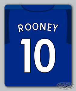 EVERTON themed MOUSEMAT mouse mat pad PERSONALISED football kit style