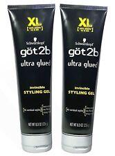 2 Tubes XL Schwarzkopf Got2b Ultra Glued Styling Gel 4 Vertical Styles 8oz/226g