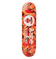 AAPE by A BATHING APE Skate Deck Skateboard Bape Camo Orange Black Rare Limited