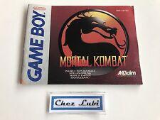 Notice - Mortal Kombat - Nintendo Game Boy - PAL FAH