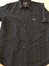 Hard Rock Cafe New York Men's Button Down Black Shirt XL EUC